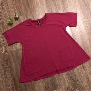 Agnes & Dora | s | berry color tunic with pockets